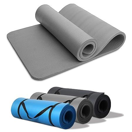 Hengda Pilates Yogamatte Gymnastikmatte NBR Rutschfeste Fitnessmatte 190 x 60cm Extra-Dick 15mm für Pilates,Gymnastik,Yoga