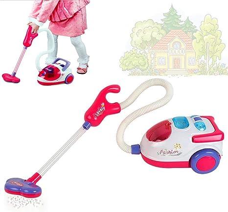 1PC niños Aspirador juguete pequeño ayudante el juego de simulación juguete de los niños de limpieza Juego Juguete casa de niños Conjunto de limpieza juguete educativo para niños Edad 3+: Amazon.es: Bebé
