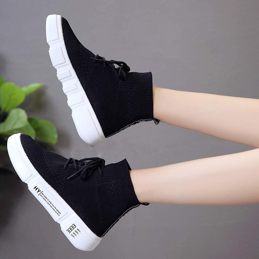 Non Slip Shoes for Women Hemissy Women/'s Fashion Sneakers High Top lace-up Shoes Classic Casual Flat Walking Shoes