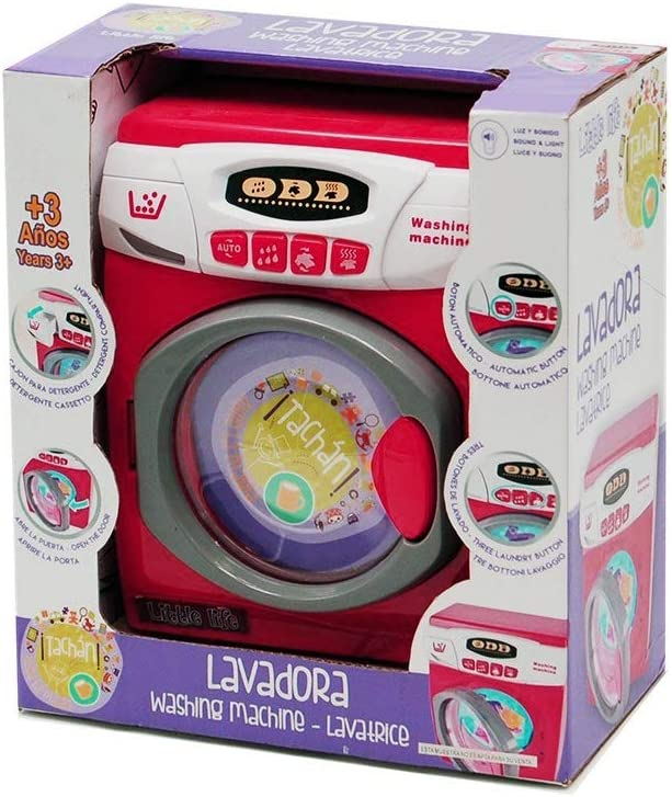 Tachan- Lavadora Little Life, Color Rojo (CPA Toy Group 46164)