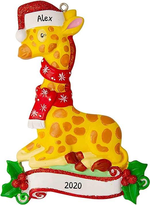 Faux Fur Animal Christmas Tree Ornament Giraffe Wondershop 6 Pack