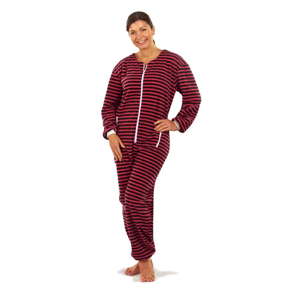 Clifford James Ladies Onesie Pyjamas, Soft Fleece One Piece Zip up Loungewear