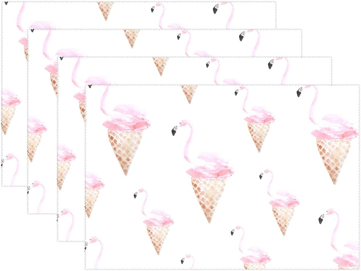Watercolor Lamona Cloth Placemats Ice Cream Dream By Friztin Abstract Ice Cream Cloth Placemats Set of 4 by Roostery with Spoonflower