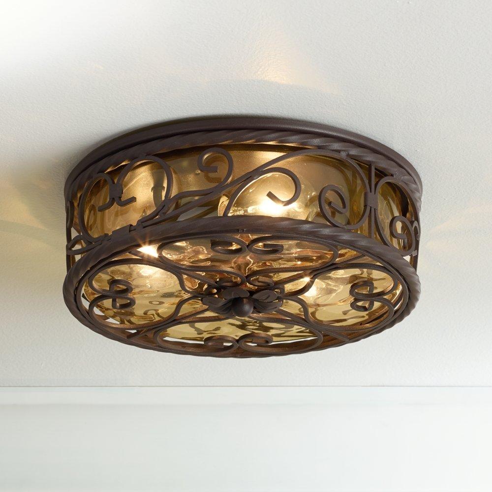 Casa seville 12 wide walnut indoor outdoor ceiling light flush casa seville 12 wide walnut indoor outdoor ceiling light flush mount ceiling light fixtures amazon aloadofball Images
