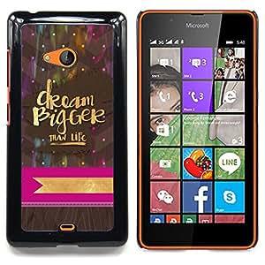 For Nokia Lumia 540 Case , Mayor motivación Estrellas Lunares - Diseño Patrón Teléfono Caso Cubierta Case Bumper Duro Protección Case Cover Funda