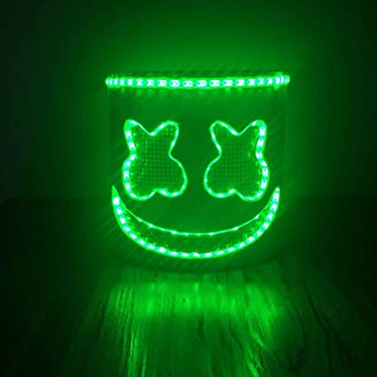 Yansy máscara para Disfraz de Cosplay, Casco para Halloween, Accesorios de Fiesta, Marshmallow