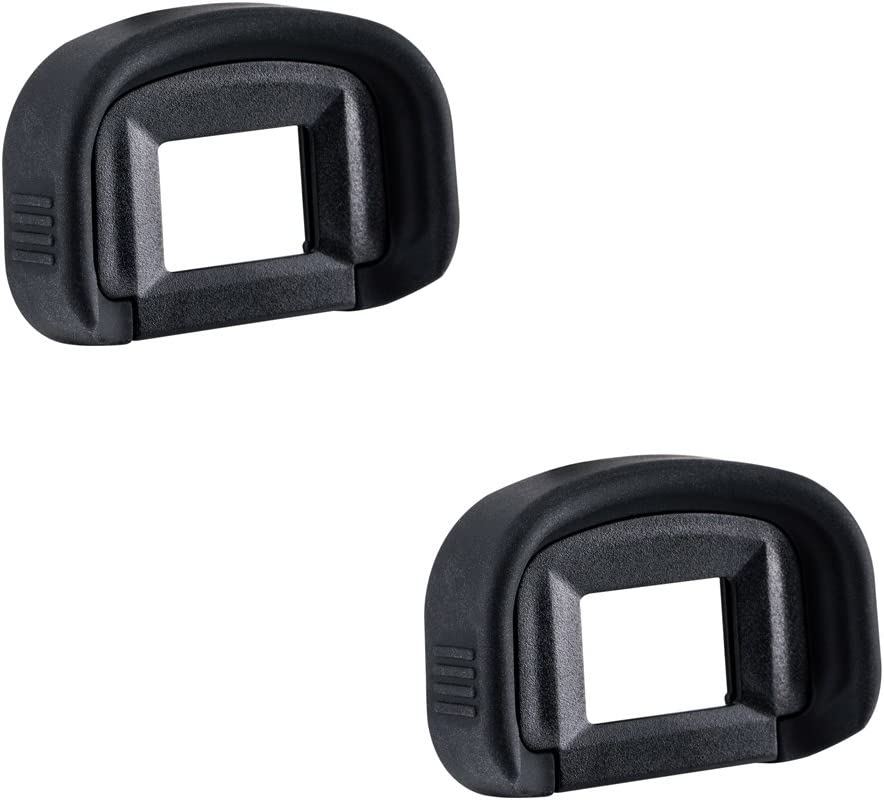 2 Pack JJC Eyecup Eyepiece Eye Cup Viewfinder for Canon EOS 5D Mark IV 5D Mark III 5DS R 5DS 7D 7D Mark II 1Dx Mark II 1Ds Mark III 1D Mark IV 1D Mark III Camera,Replaces Canon EG Eyepiece