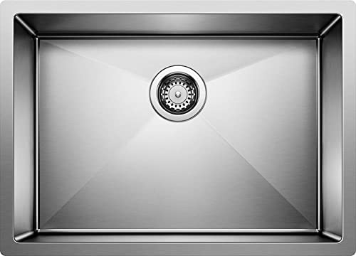 Blanco 515822 16-Inch Precision R10 Single Bowl Undermount Sink, Stainless Steel