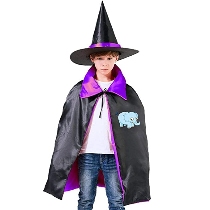 b40e26f45318 Amazon.com  Horizon-t Cute Elephant Halloween Wizard Witch Kids Cape ...