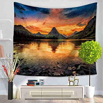 Mountain Art Hanging Wall Hippie Tapestry Wall Decor Home Yoga Beach Towel