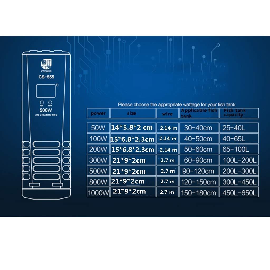 Xinjin-C Calentadores de Acuario Pantalla Digital Inteligente Termostato de Tanque de Peces con Interruptor Independiente y Termostato Inteligente 220 v ...