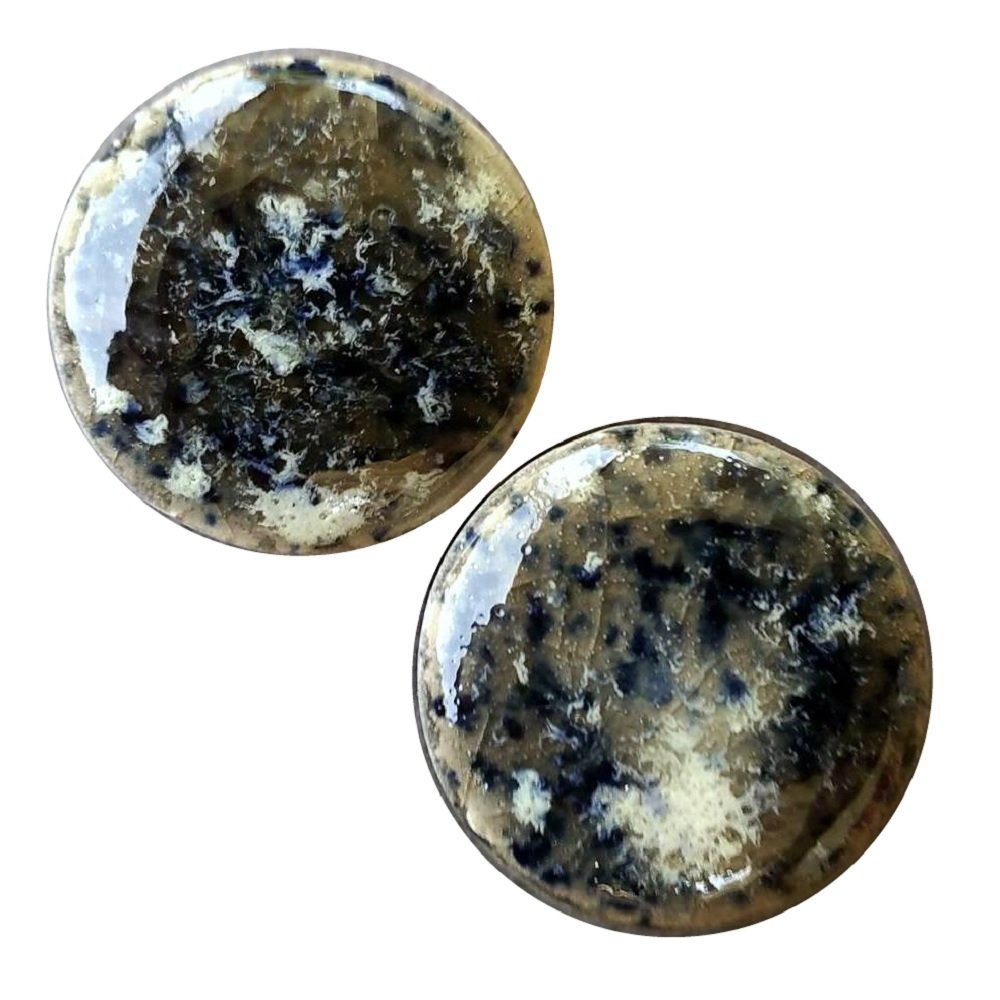 Pair - Warp Speed Time Traveler Galazy Glass Ceramic Ear Plugs Organic Handmade double-flared gauges Essential Oil Diffuser (11mm 000g 7/16in) by Imperial Plugs