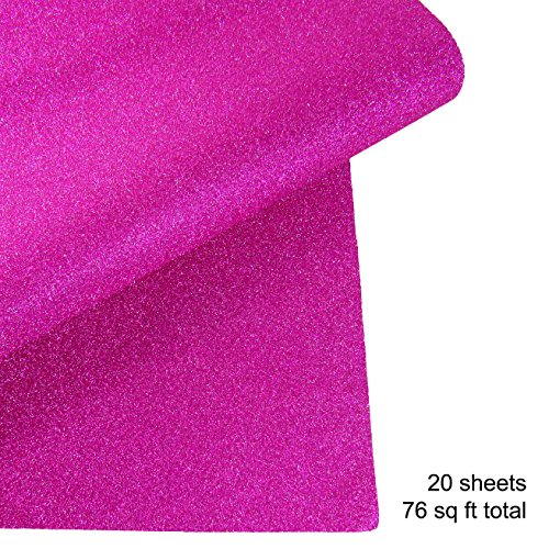 Glitter Gift Wrapping Paper, 20 Sheets, 76 sqft (Pink) by Missamé