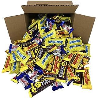 Bulk Chocolate Candy Bars Individually Wrapped, Fun Mix of Chocolate Bars Including Mr Goodbar Milk, Mr. Goodbar Dark Miniatures, Hershey Milk Emoji Bars, Babyruth and Butterfinger, 5 Pounds