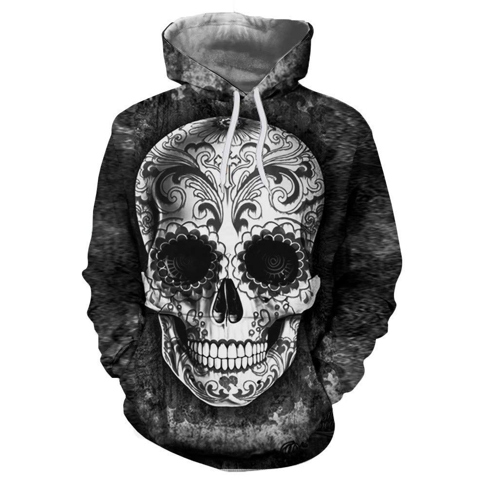 Hoodies 3D Digital Print Pocket Cap Hooded Sweater
