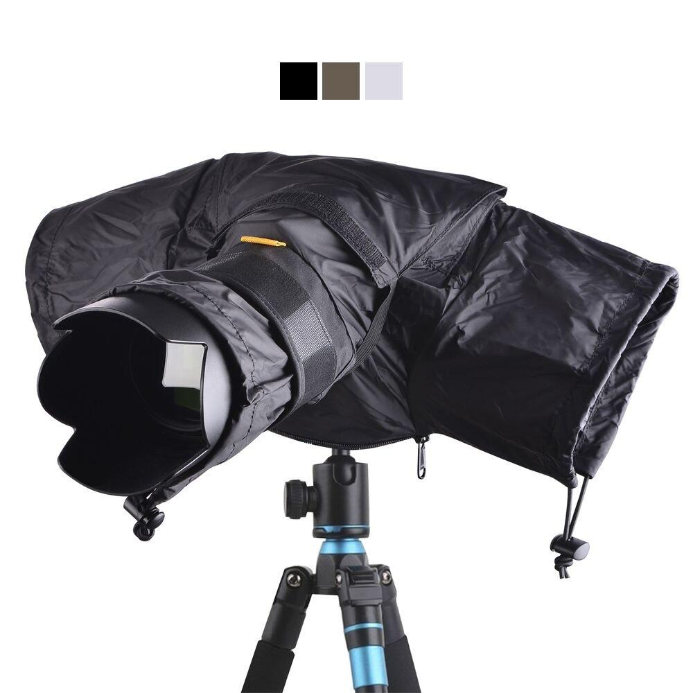 カメラ用レインカバー デジタル一眼レフカメラプロテクター Canon Nikon Olympus Pentax Fuji Sony B06XHYLWVV ブラック Small