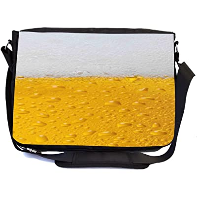 Rikki Knight Beer Design Multifunctional Messenger Bag - School Bag - Laptop Bag - with padded insert for School or Work - Includes Matching Compact Mirror