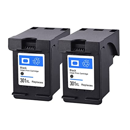 Remanufacturados compatible HP 301XL 301 XL Cartucho de tinta 2 Paquetes (Negro) Por HP CH561EE CH562EE CH563EE CH564EE Deskjet 4630 4632 4634 4636 ...