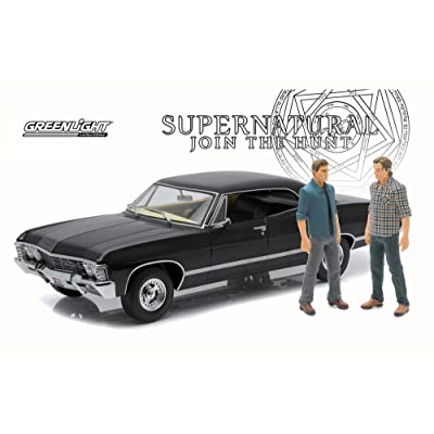 Greenlight Supernatural 1967 Chevy Impala Sport, Black 19021 - 1/18 Scale Diecast Model Toy Car: Toys & Games