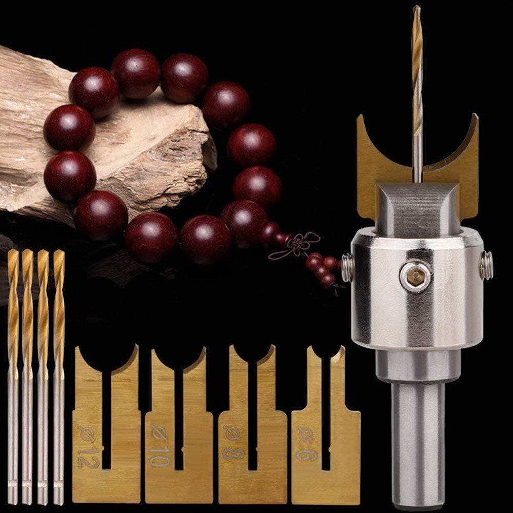 Neu-Kugel Bohrer Bohren Legierung Fräser Holz Perlenmacher Werkzeuge Klingen-DE