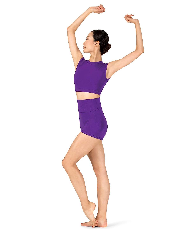 Girls Sueded Cotton Cap Sleeve Dance Crop Top MM107C
