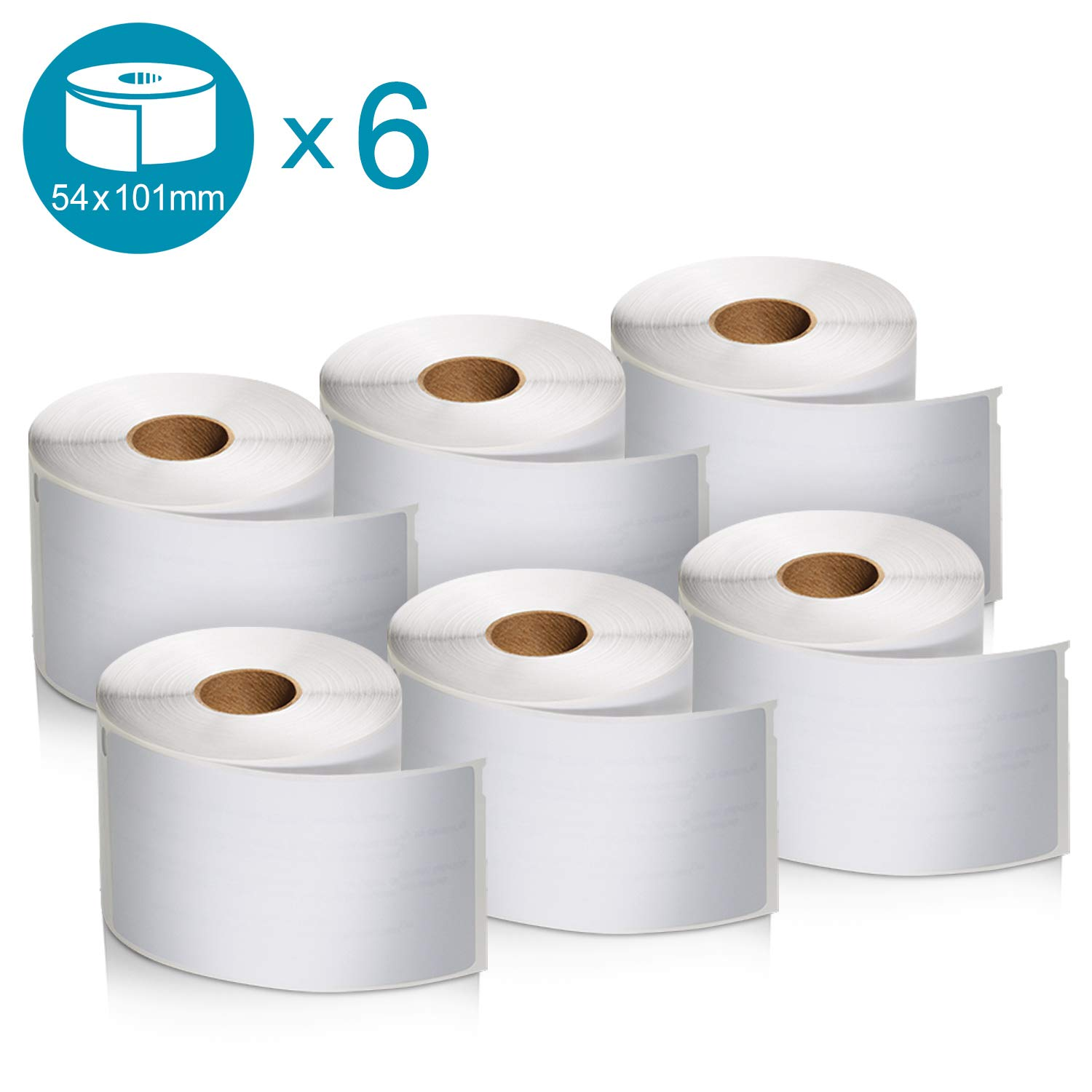 Black Print on White 2 Rolls of 575 102 x 59 mm Dymo S0947420 LabelWriter 4XL High Capacity Large Shipping Labels