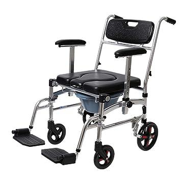 WC móvil, silla de ruedas plegable, viejo inodoro con ruedas, silla movible,