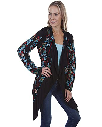 056e48d22aa Scully Women s Honey Creek by Floral Embroidered Jacket at Amazon Women s  Coats Shop