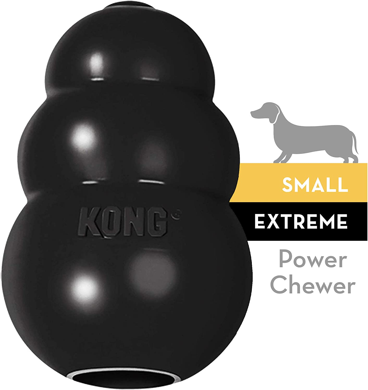 KONG - Extreme - Juguete de robusto caucho natural negro - Para morder, perseguir o buscar - Raza S