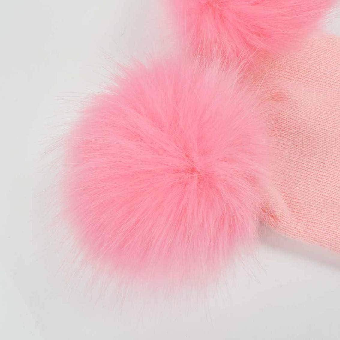 heekpek Cappello Neonato con PON PON 0-3 Anni Berretto A Maglia Bambino Inverno Autunno in Cotton Caldo Antivento Morbido per Ragazzo Ragazza Elegante Beanie in Cotone a Maglia