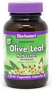 Bluebonnet Nutrition Standardized Olive Leaf Herb Extract, 60 Count