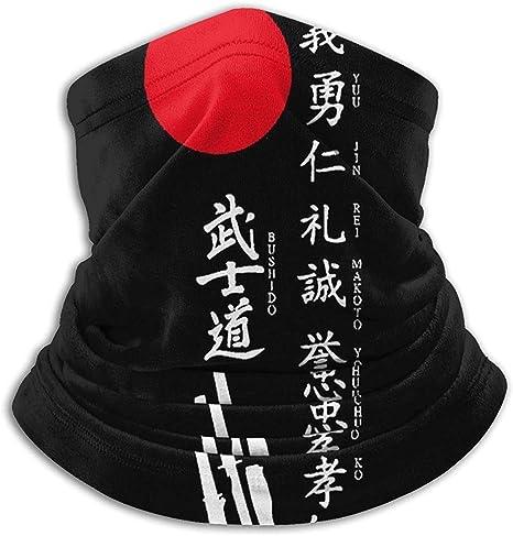 congminbai Japanese Kanji Samurai Bushido.jpg Neck Gaiter Warmer Men Women Windproof Free UV Face Mask for Winter Outdoor Sports Windproof