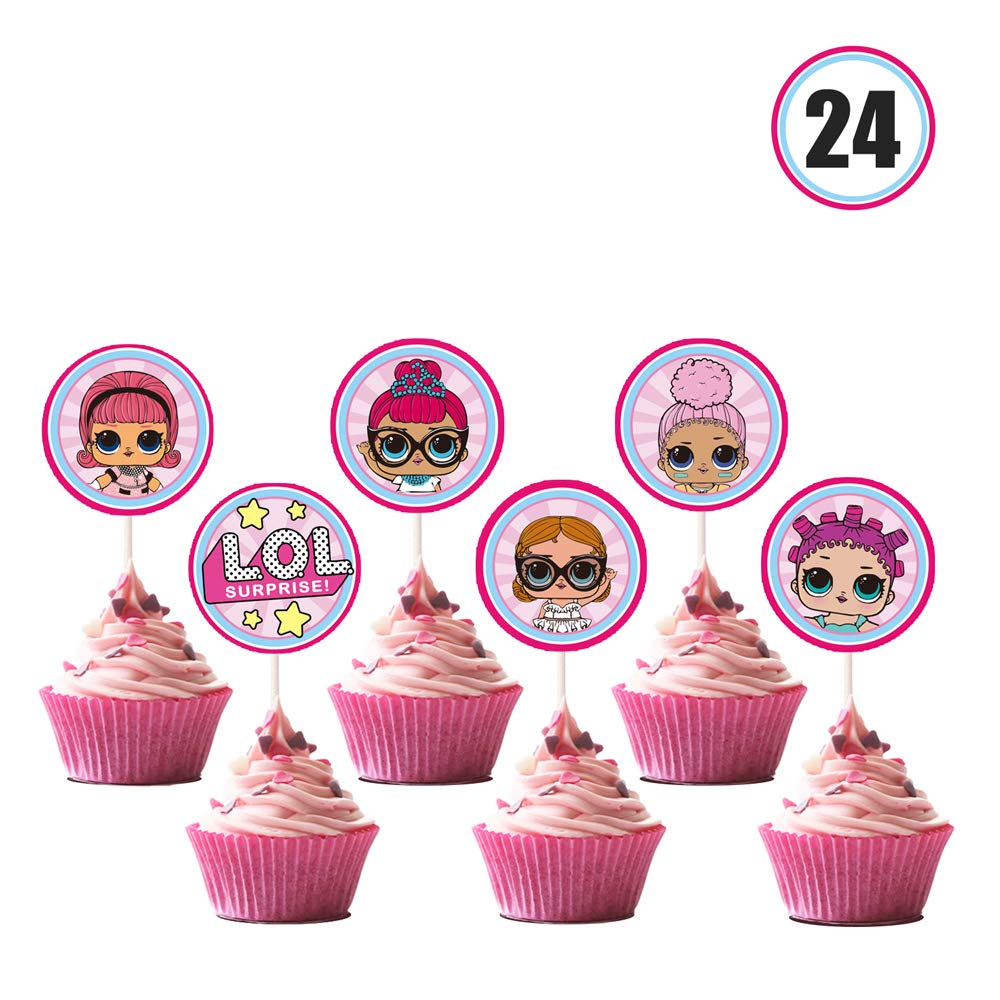 2d431fb0ad7 LOL Cupcake Toppers Girls Topper Set