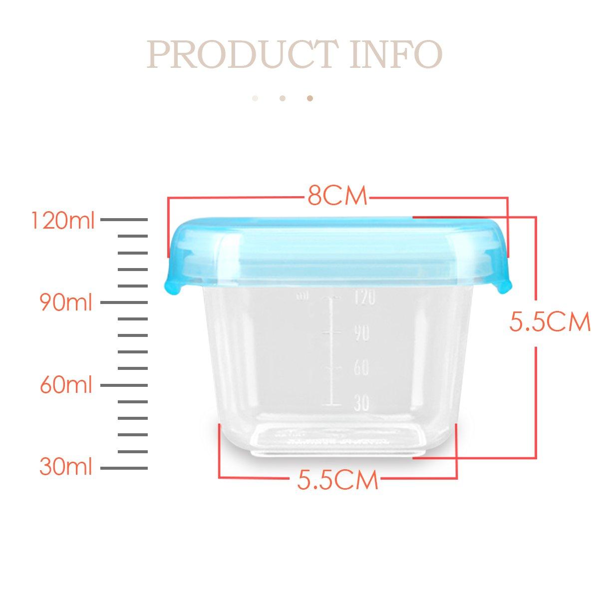 4 x 120 ml 100/% dicht Babynahrung Aufbewahrung,Baby-Nahrungserg/änzung Vorratsdose SONARIN BPA-freie Baby-Frischhaltedose