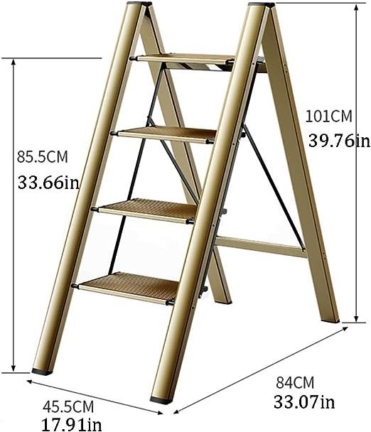 SJASD Escalera Plegable Robusto 4 peldaños Escalerilla de Aluminio ...