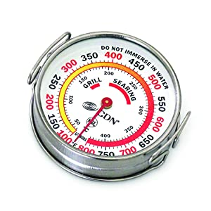 CDN 1751038 GTS800X Grill Surface Thermometer, Silver