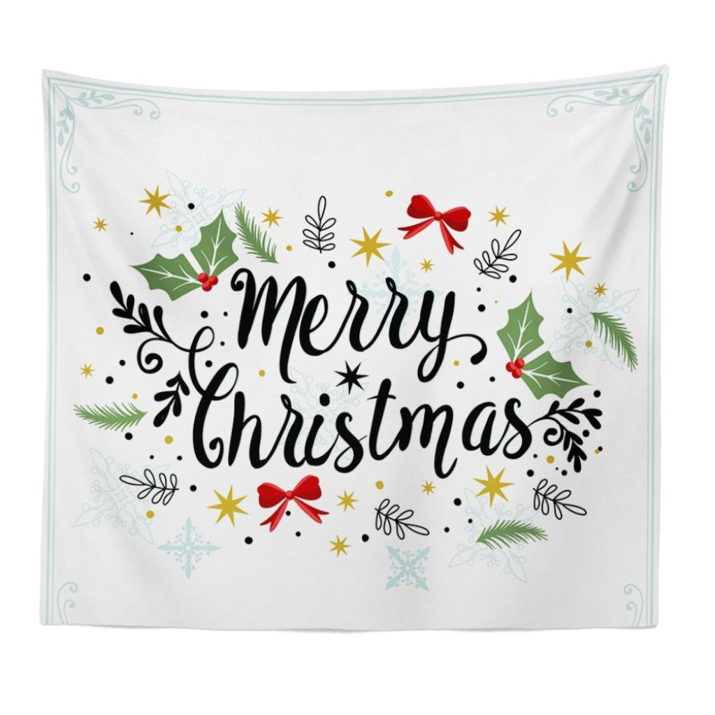 nacome Merry Christmasタペストリー壁吊りThrow Blanket ( 150 x 200 cm ) B07797HTP9 E E