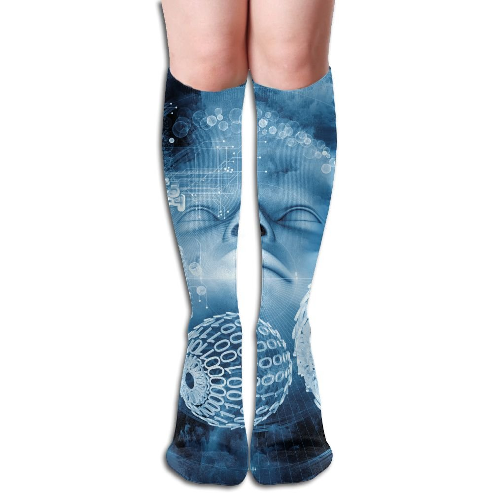 FYW Beyond Human Series Composition Of Human Fractal And Natural Forms On The Subject Of Inner Mens & Womens Knee High Socks For Varicose Veins Blood Circulation