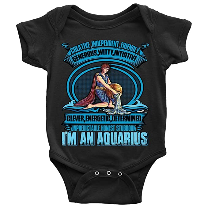 Im An Aquarius Baby Bodysuit, Creative And Independent Baby Bodysuit (6M,