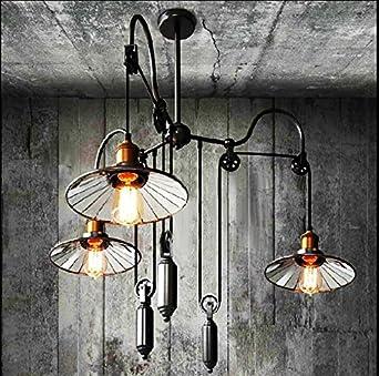 QWER Pendant Deckenleuchte Lampe Industrial Air Retro American-Style ...