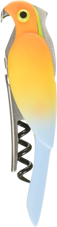 "True Zoo 3537 Corkatoo Ombre Waiter's Corkscrew, Turn Key, Bar Cart Accessory, 5"", Orange"