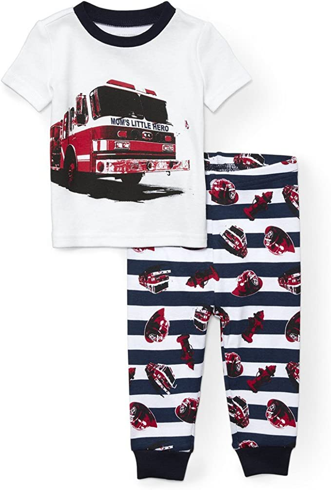 The Childrens Place Baby Boys Short Sleeve Pajama Pant Set