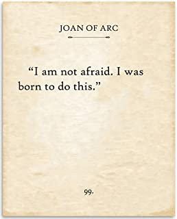 product image for Joan of Arc (Jehanne Darc)- I Am Not Afraid - 11x14 Unframed Typography Book Page Print - Great Gift for Biblical and Historical Lovers Under $15