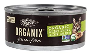Castor & Pollux, Cat Organix Shredded Chicken and Liver Organic, 5.5 Ounce