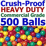 My Balls Pack of 500 Jumbo 3'' Commercial Grade Ball Pit Balls - Air-filled Crush-Proof in 5 Colors Phthalate Free BPA Free PVC Free