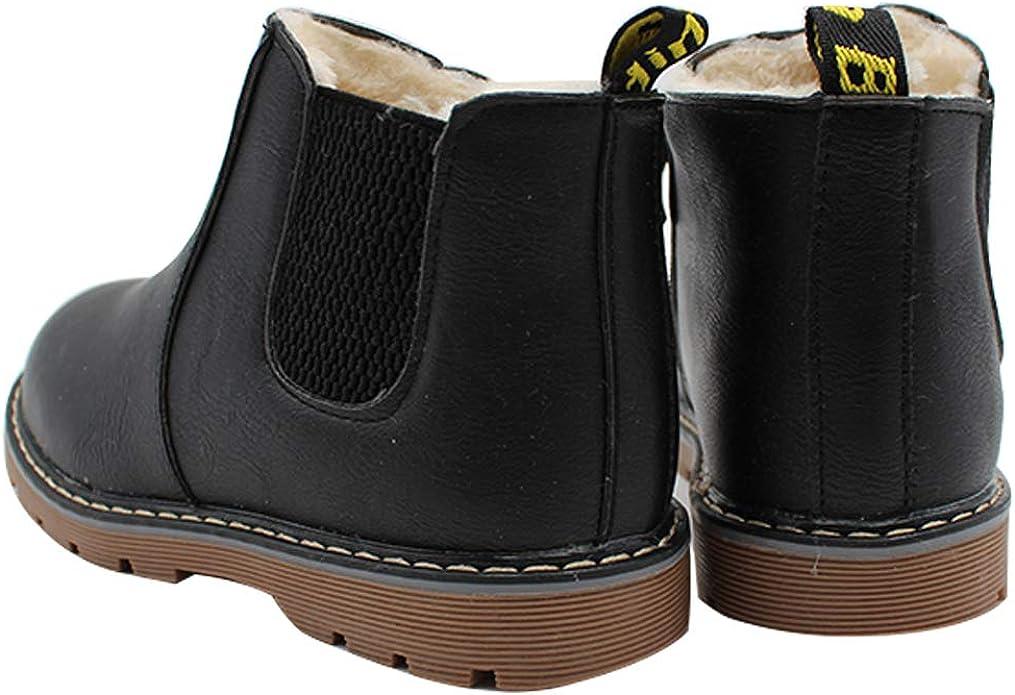 Toddler//Little Kid//Big Kid GUBARUN Boys Snow Boots Winter Waterproof Slip Resistant Cold Weather Shoes -7M,Black