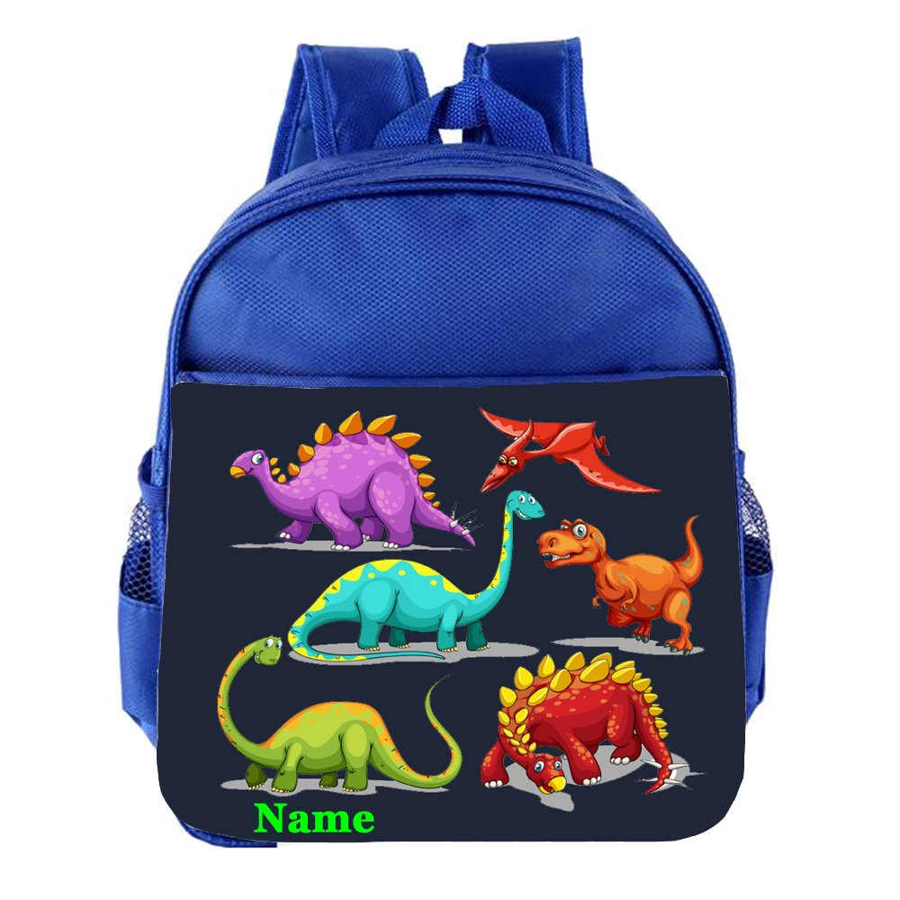 Dinosaur T-Rex Personalised Customised Kids Toddlers Nursery School Bag Backpack
