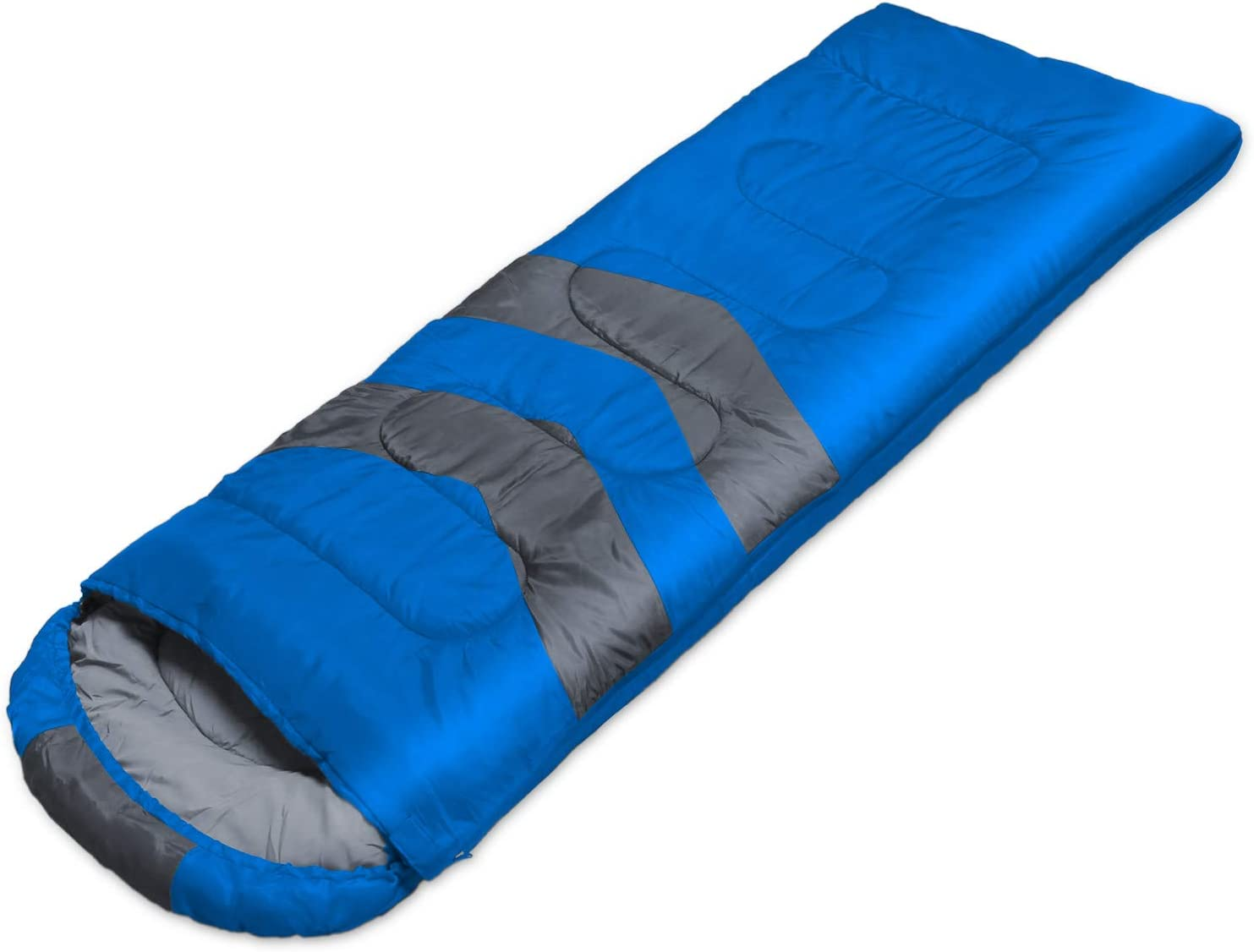 BESTEAM Double Sleeping Bag Backpacking, Hiking, Family Camping, Traveling. Queen Size XL Truck, Tent, Sleeping Pad. 2 Person Waterproof Sleeping Bag Adults Teens. 3 Seasons