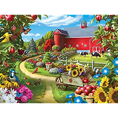 MasterPieces Family Hour Apple of My Eye Farm with Barn Scene Jigsaw Puzzle, 400-Piece: Toys & Games