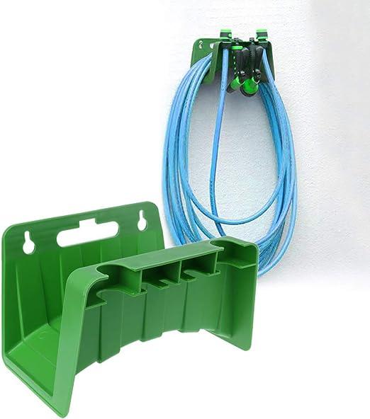 Cuigu Soporte de Pared para Manguera de riego de jardín Valla Soporte de Almacenamiento de Cable: Amazon.es: Hogar